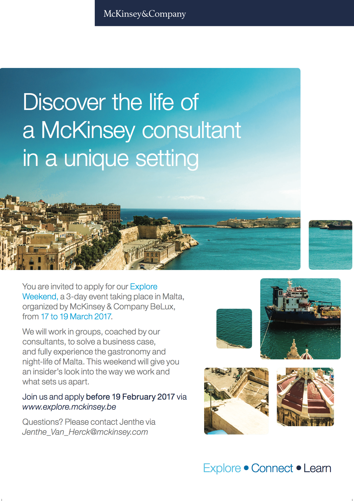 McKinsey & Company Explore Weekend